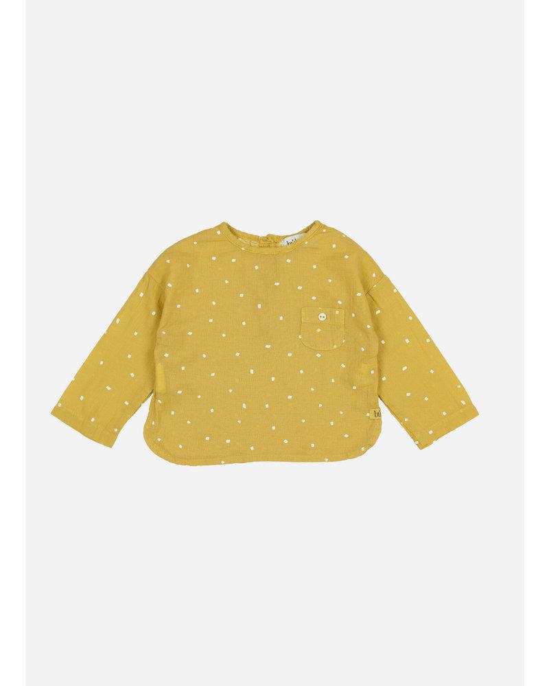 Buho teo petit treats pocket shirt - ocre