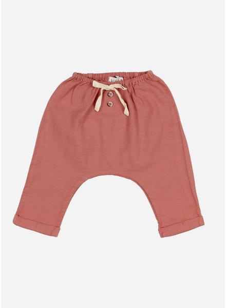 Buho martin cotton pants - brick