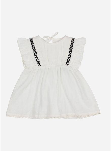 Buho graziella embroidered dress - white