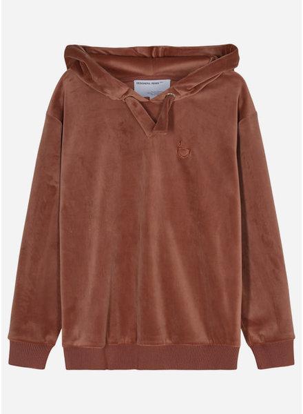 Designer Remix Girls frances hoodie - brown