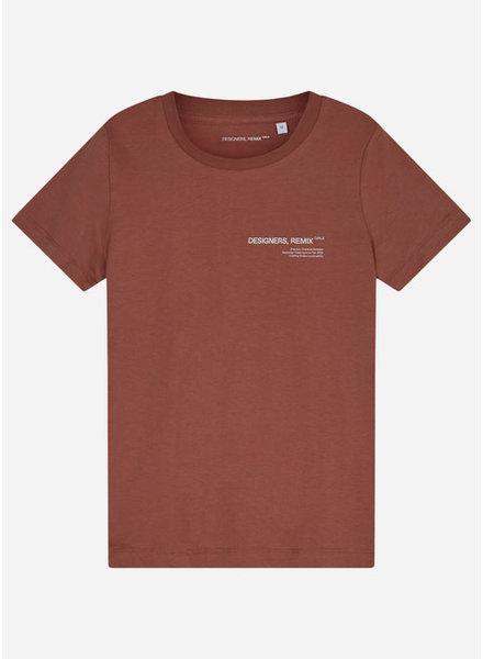Designer Remix Girls stanley logo tee - brown