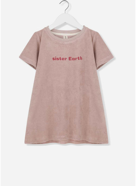 Kids on the moon aurora t-shirt dress