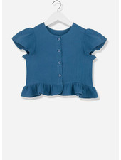 Kids on the moon midnight buttoned blouse