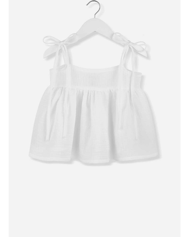 Kids on the moon cloud dancer bow top