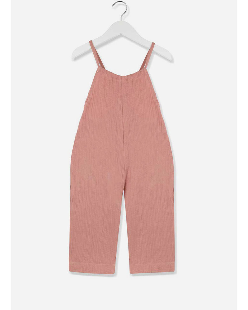 Kids on the moon coral cloud jumpsuit