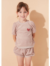 Kids on the moon aurora puff top