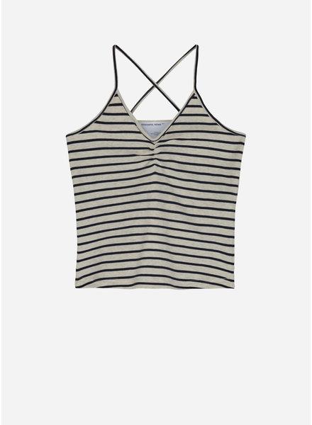 Designer Remix Girls joan top stripes - oatmeal/navy