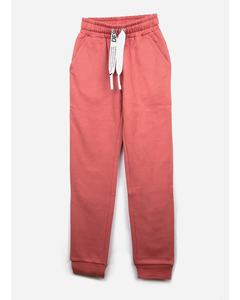 Designer Remix Girls parker sweat pants - dusty red