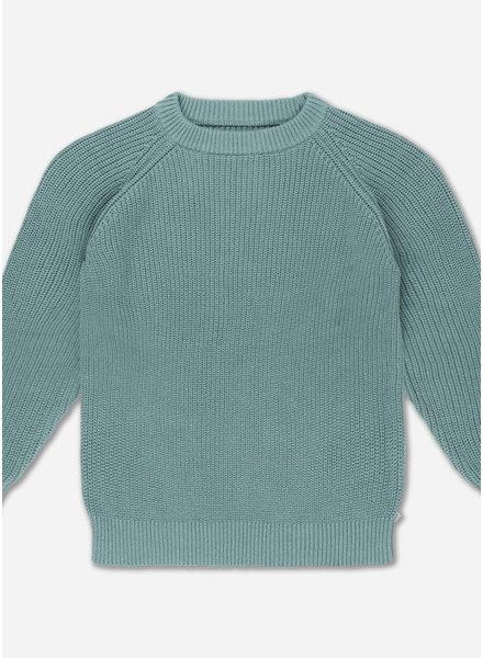 Repose knit sweater - greyish sea