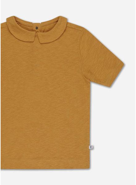 Repose t shirt with collar - sun gold