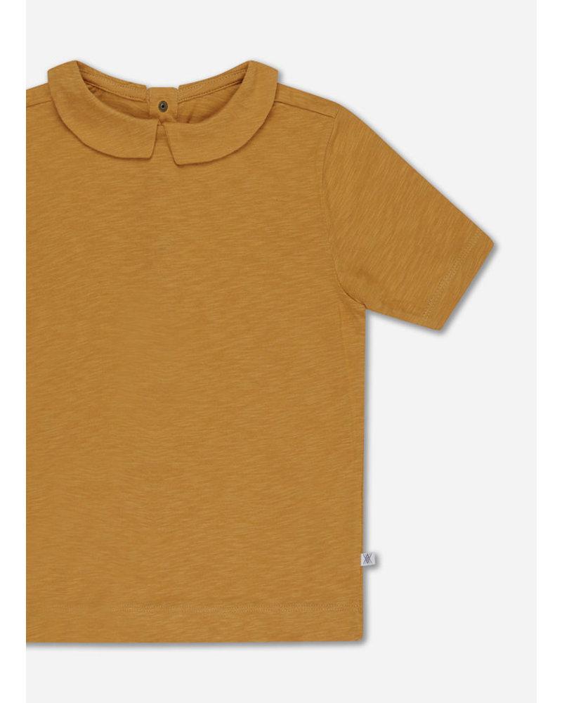 Repose 32. t shirt with collar - sun gold