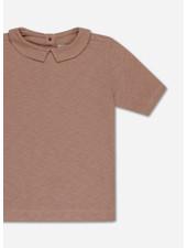 Repose t shirt with collar - powder creme