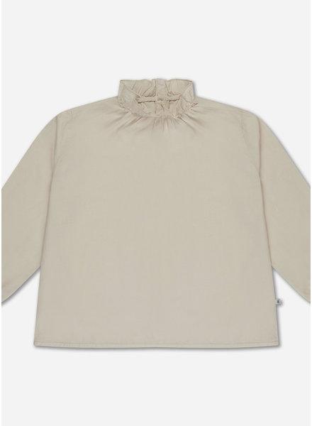 Repose ruffle blouse - sand pearl
