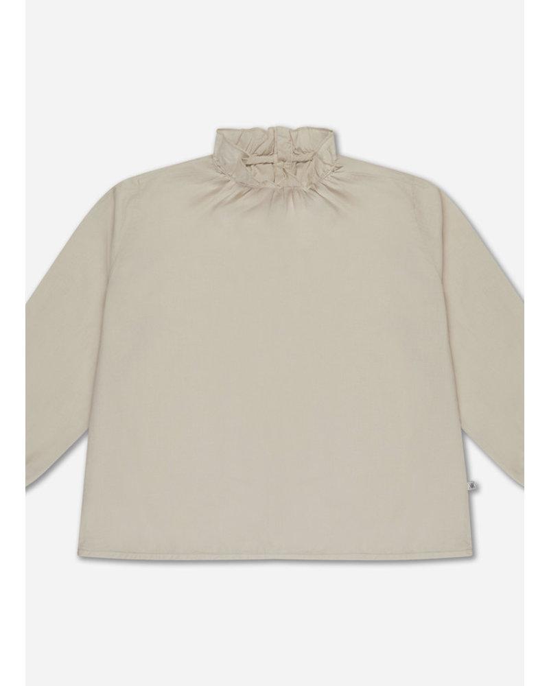 Repose 24. ruffle blouse - sand pearl