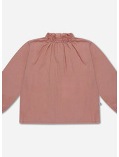 Repose ruffle blouse - powder peachy