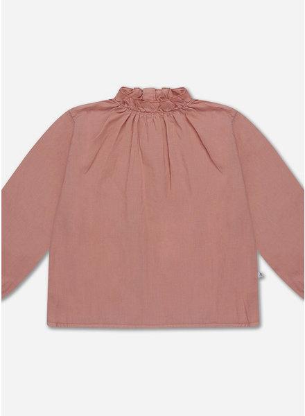 Repose ruffle blouse - powder peachy