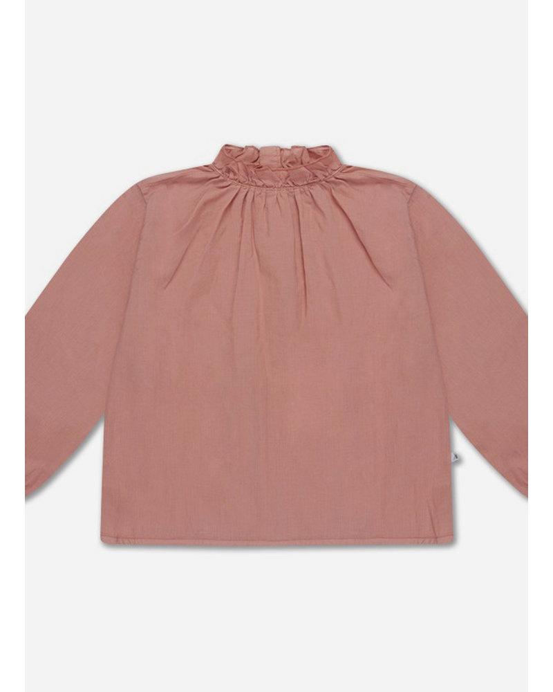 Repose 24. ruffle blouse - powder peachy