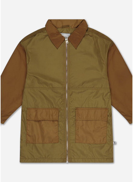 Repose bomber with collar - khaki golden block