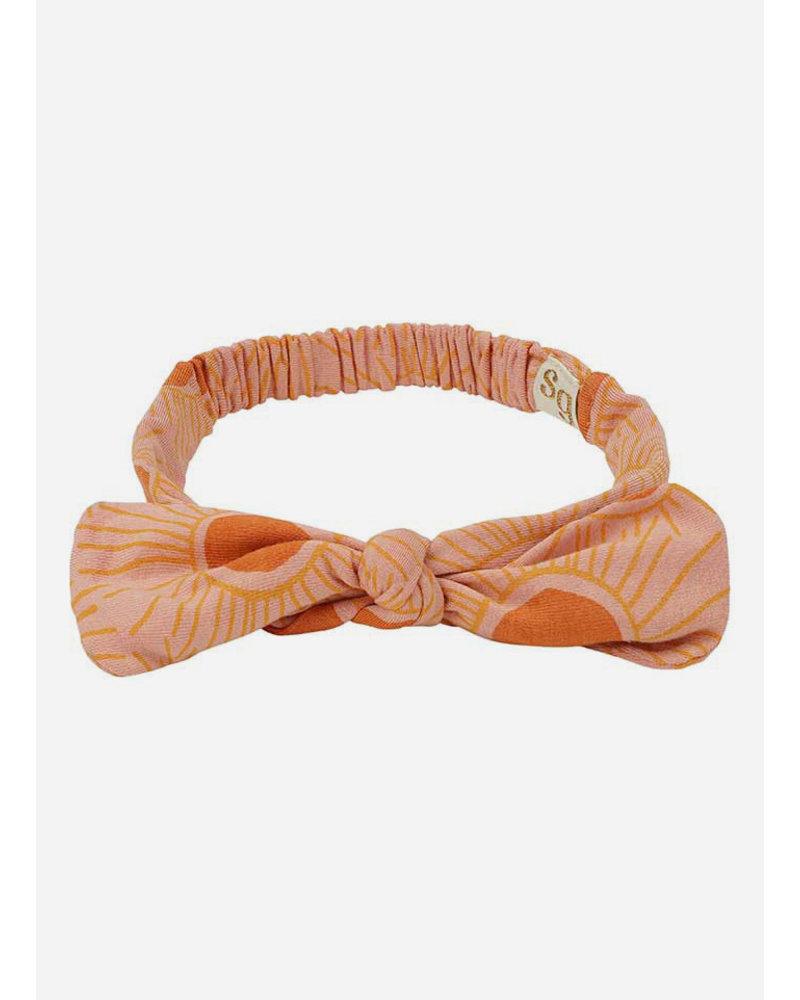 Soft Gallery bow hairband - peach bloom sunshine