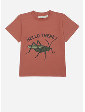 Soft Gallery asger tshirt - baked clay grasshopper