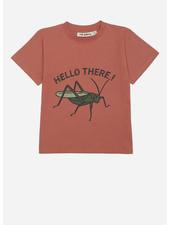 Soft Gallery asger tshirt - baked clay grasshopper
