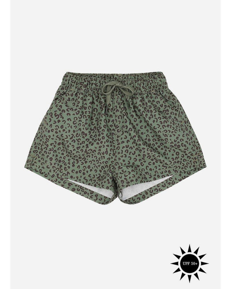 Soft Gallery dandy swimpants - oil green leospot