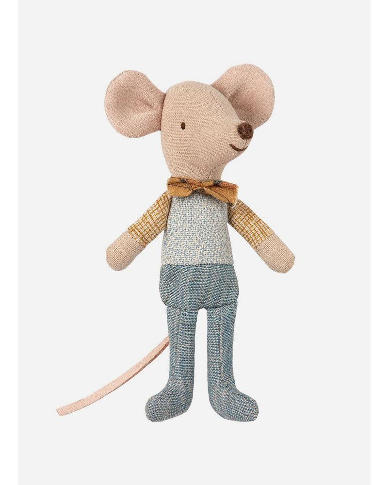 Maileg little brother mouse with vlinderstrik in box