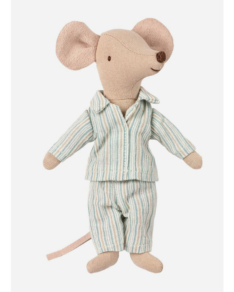 Maileg big brother mouse with pyjama in box