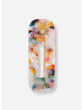 Repose hair clip squared - multi marble
