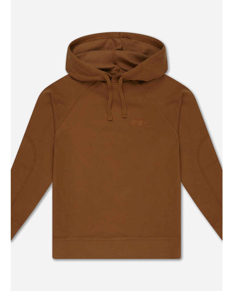 Repose 9. hoodie - greyish crab red