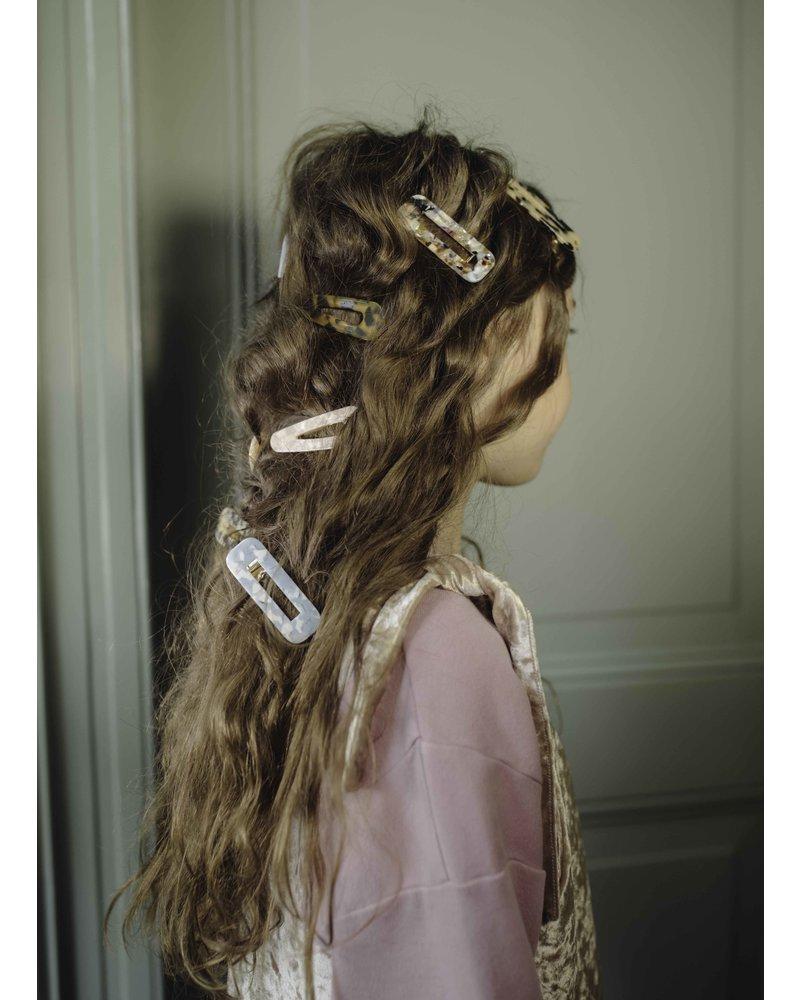 Repose 48. hair clip squared - soft powder pink