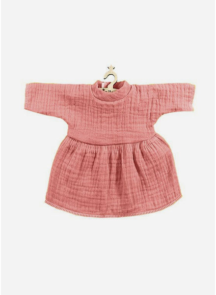 Minikane poppenkleertjes robe faustine vieux rose