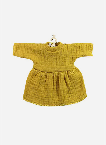 Minikane poppenkleertjes fausine robe moutarde