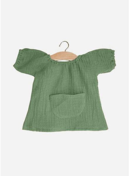 Minikane poppenkleertjes robe jeanne vert olive