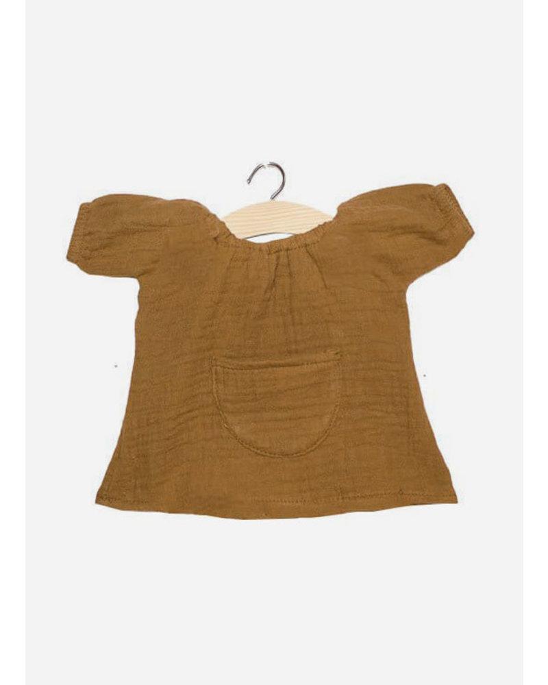 Minikane poppenkleertjes robe jeanne camel