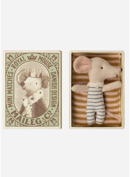 Maileg baby mouse sleepy/wakey in box - boy