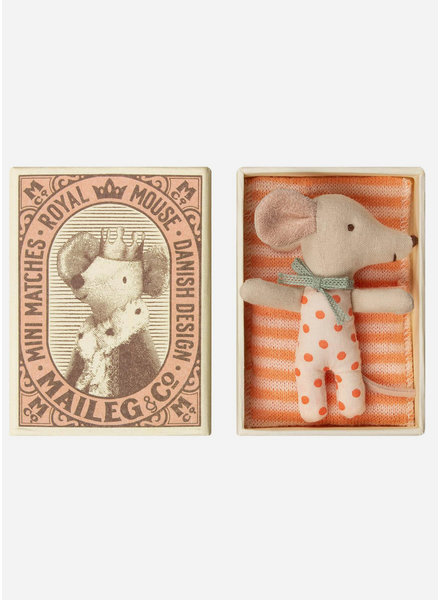 Maileg baby mouse sleepy/wakey in box - girl