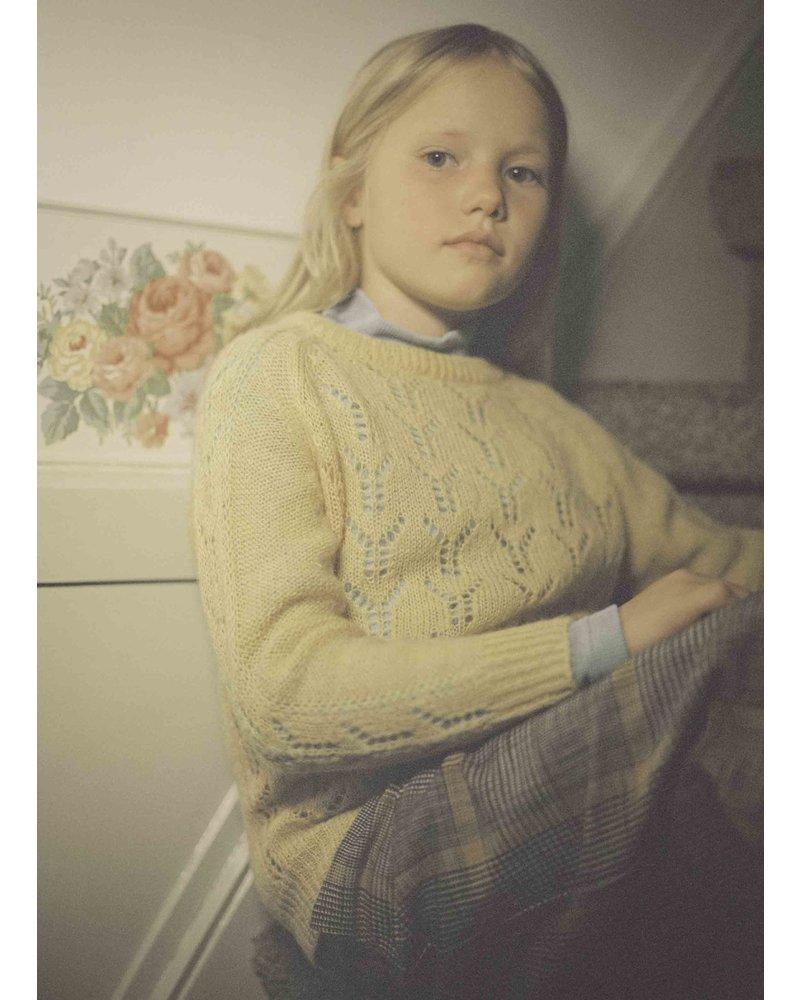 Repose 38. knit sweater - pale yellow