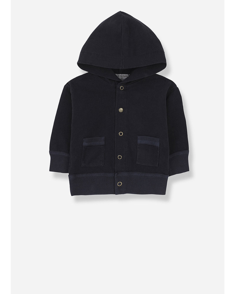 1+ In The Family noto hood jacket - blue notte