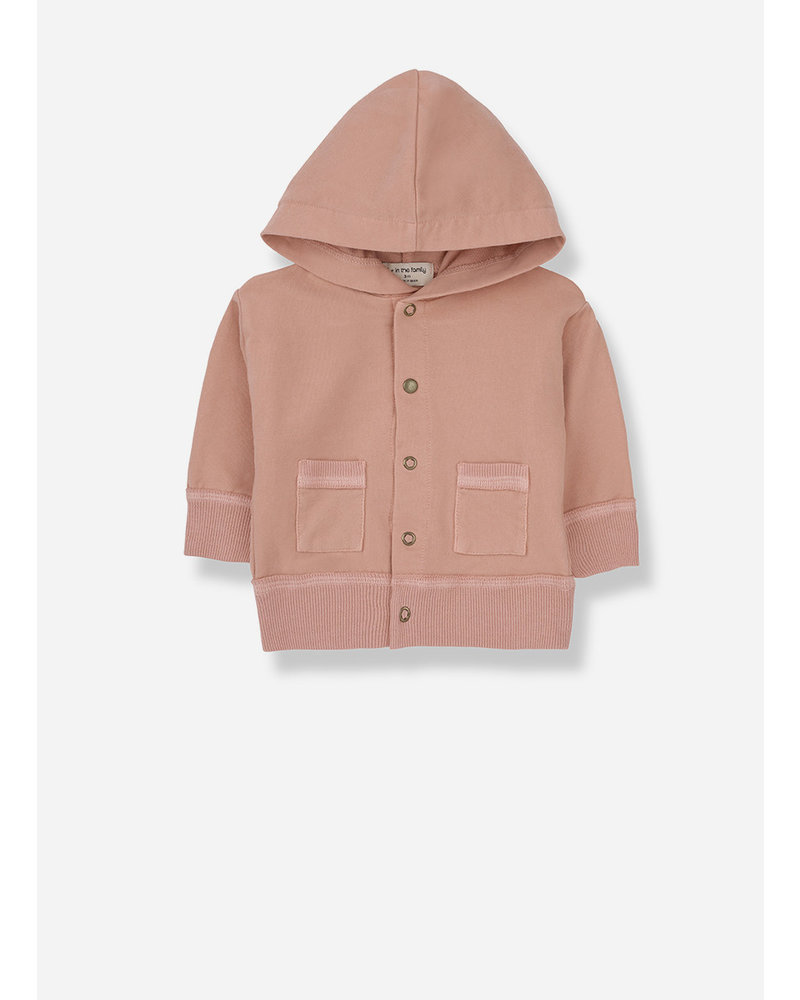 1+ In The Family noto hood jacket - rose