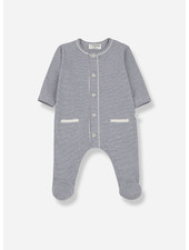 1+ In The Family escala jumpsuit with feet - azzurro