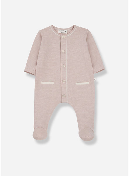 1+ In The Family escala jumpsuit with feet - rose
