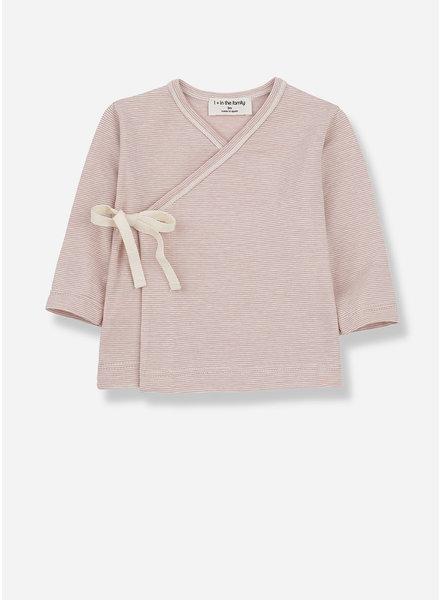 1+ In The Family lloret newborn shirt - rose