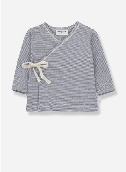 1+ In The Family lloret newborn shirt - azzuro