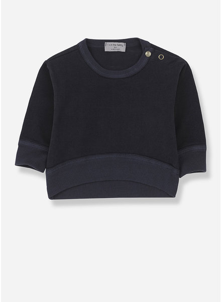1+ In The Family siracusa sweatshirt - blue notte