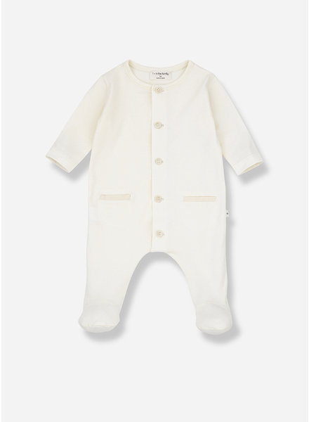 1+ In The Family jad jumpsuit with feet - ecru