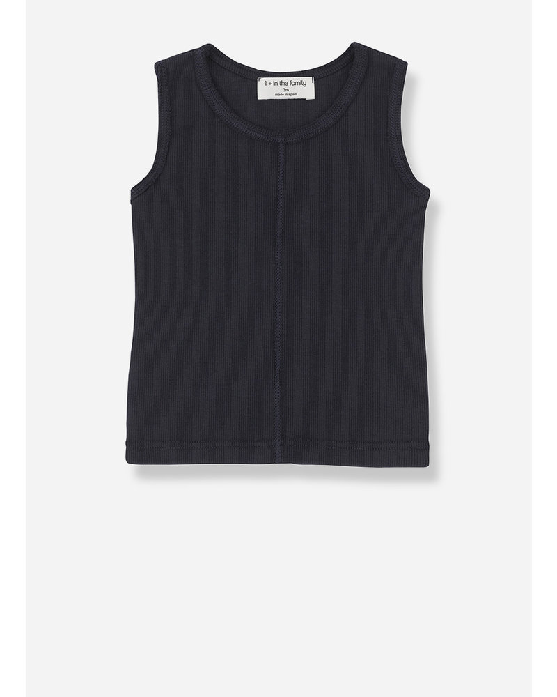1+ In The Family lea sleeveless top - blue notte