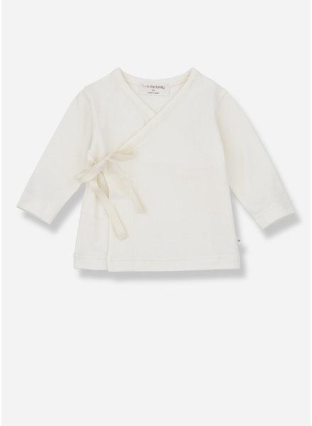 1+ In The Family alba newborn shirt - ecru