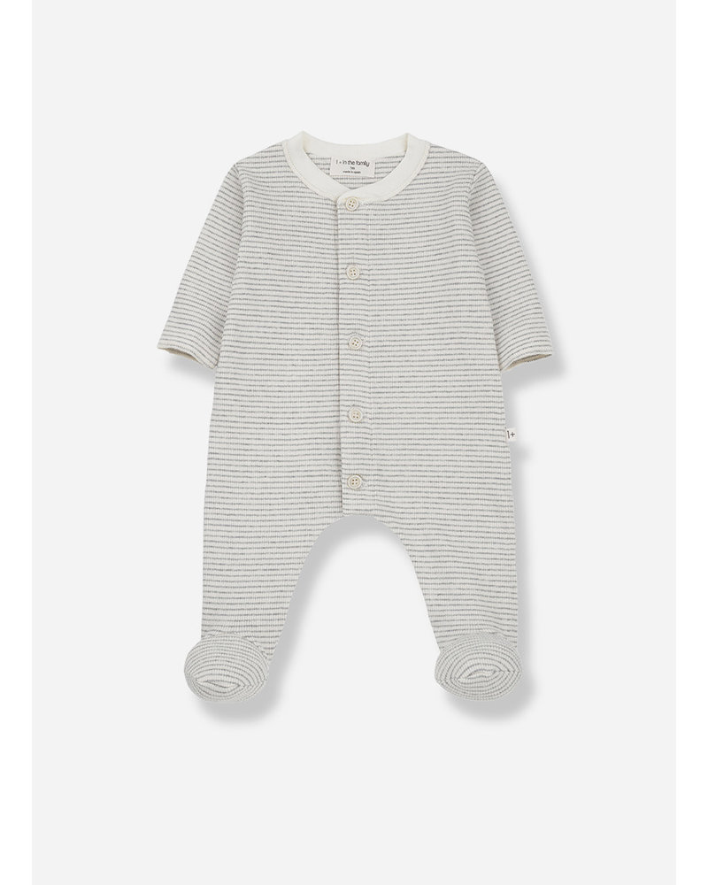 1+ In The Family marcello jumpsuit with feet ecru