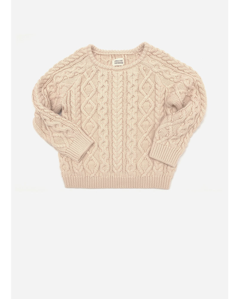 Long Live The Queen aran sweater 403 natural